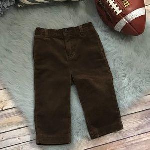 Polo Brown Corduroy Pants 12 mo Classic Preppy